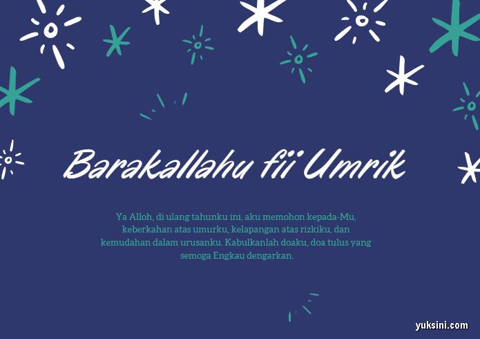 Ucapan ulang tahun islami untuk diri sendiri