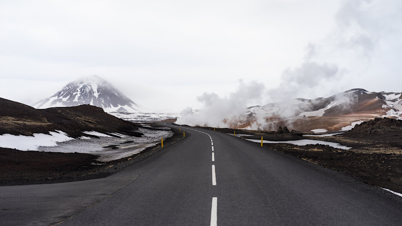 Road through Iceland nature