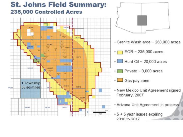 Map Of Saint Johns Arizona.Arizona Geology Hearing Set On Well Spacing For St Johns Co2