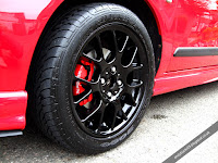 MG Rover 25 1.4 Solar Red with Black Hairpin Wheels and Red Brake Caliper with Xpower Decal