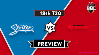 Today BBL 2019 18th Match Prediction Melbourne Renegades vs Adelaide Strikers