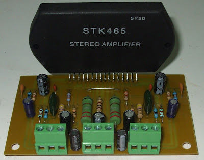 STK465 Stereo Power Amplifier circuit