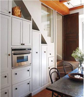 dapur kecil unik bawah tangga
