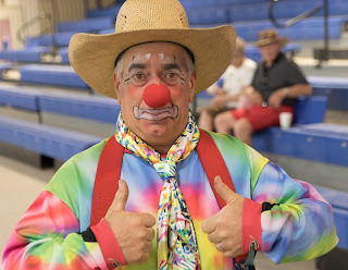 rodeo clown at the parada del sol scottsdale rodeo