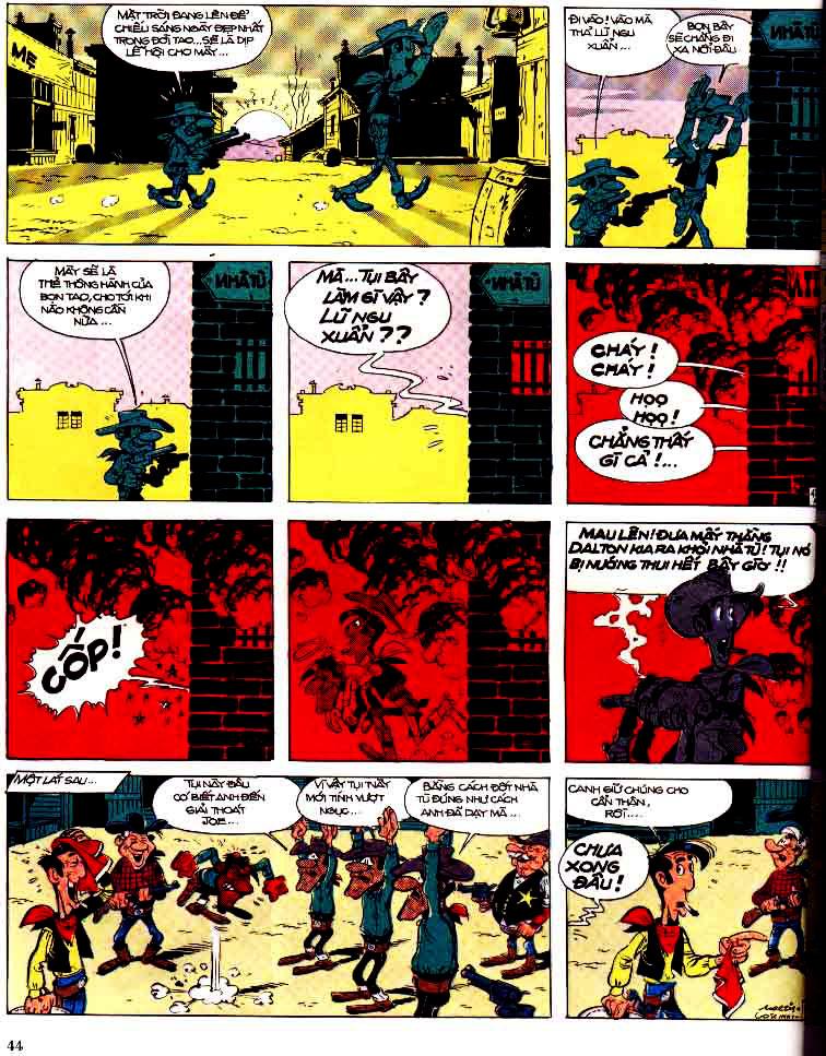 Lucky Luke tap 15 - ma dalton trang 45