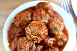 Bobby Flay's Meatball {and sauce!} Recipe