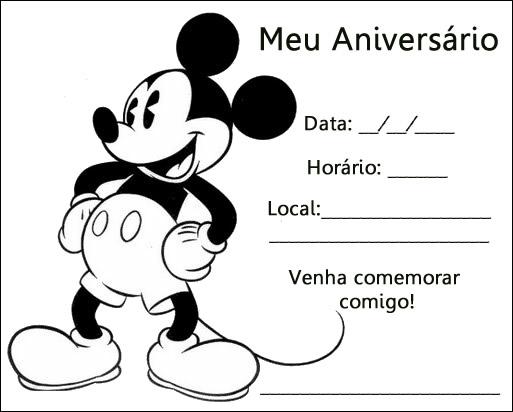 Aniversario De Crianca Convite De Aniversario Do Mickey Preto E