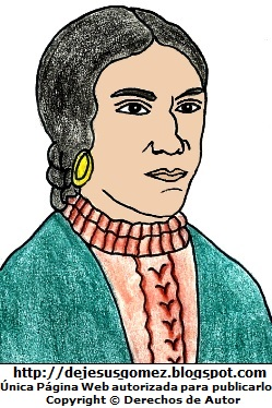 Imagen de Micaela Bastidas a color. Dibujo de Micaela Bastidas hecha por Jesus Gómez