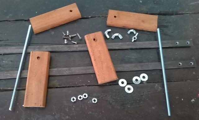 Peças usadas na construção do molde