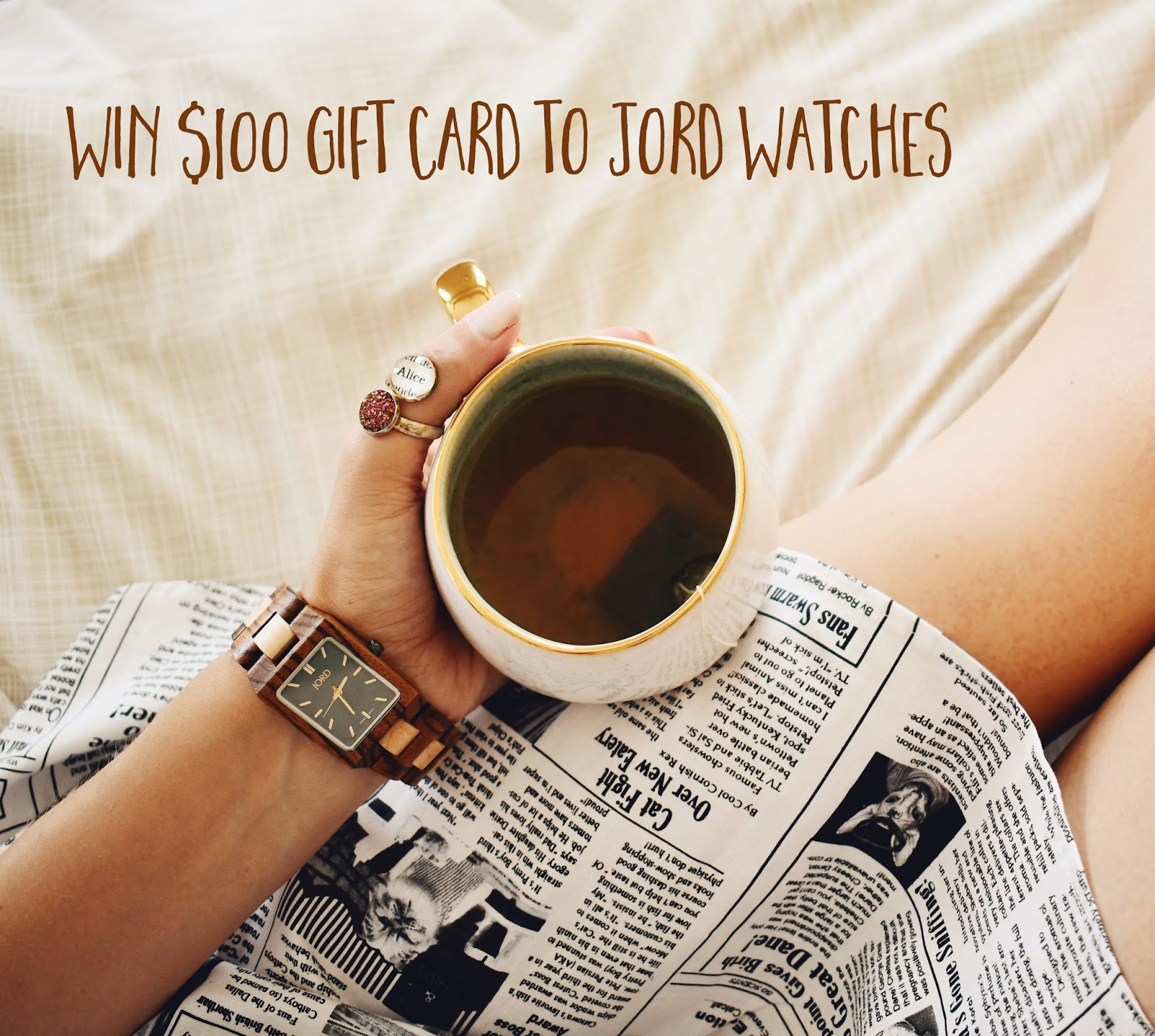 $100 Gift Card giveaway to Jord Watches ! | Bookish