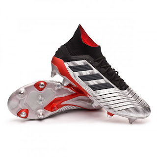 ADIDAS PREDATOR 19.1 FG Silver metallic-Core black-Hi red
