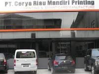 Lowongan Kerja PT. Cerya Riau Mandiri Printing Pekanbaru