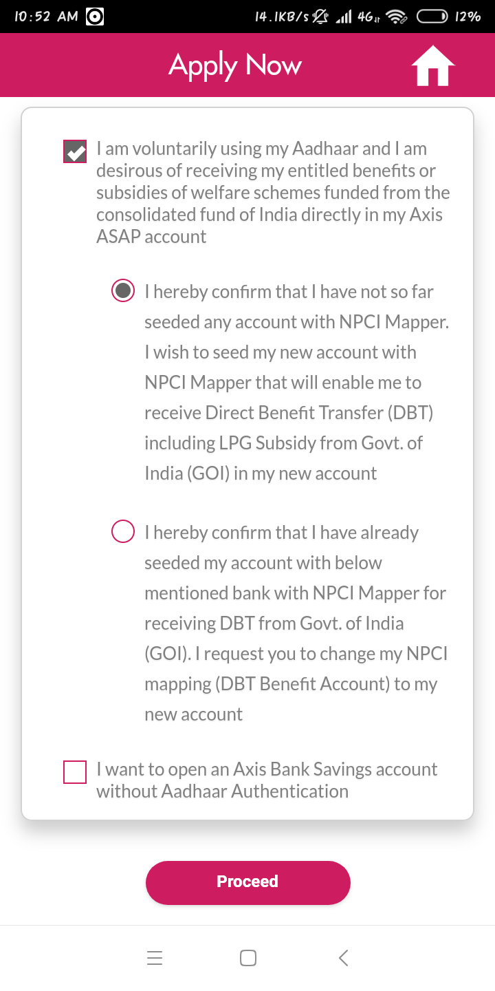 How to open axis bank account from Home