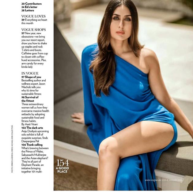 Kareena Kapoor Sexy Still For Vogue Magazine