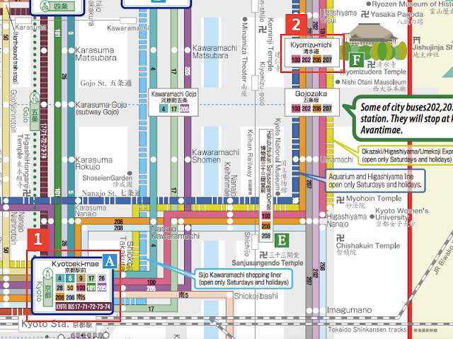 จากสถานีเกียวโตไปยังวัดคิโยมิสุ Kiyomizu Temple (วัดน้ำใส)