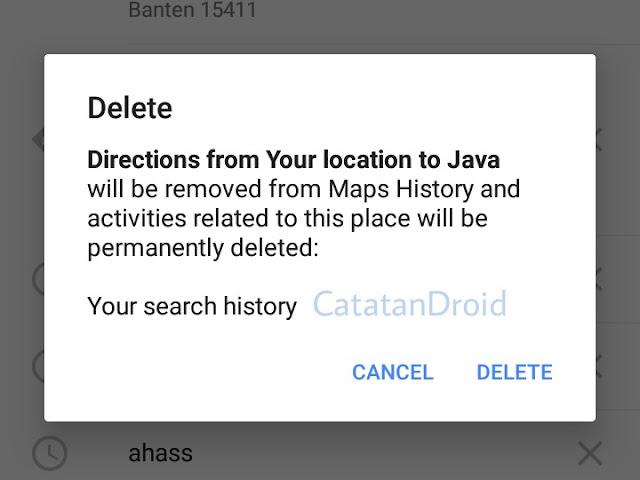 Cara Menghapus History Perjalanan dan Pencarian Tempat di Google Maps