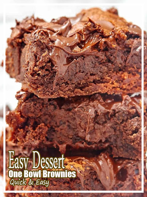 Easy Dessert, One Bowl Brownies