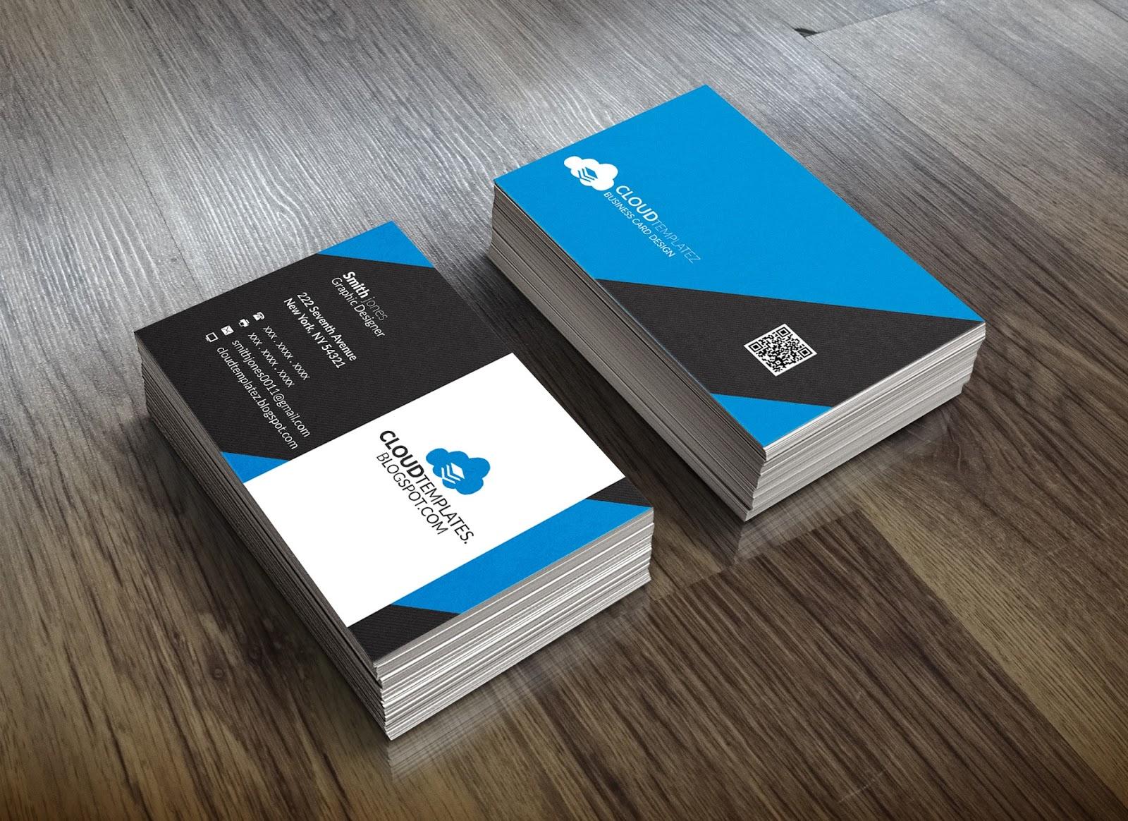 professional  modern business card template  cloud