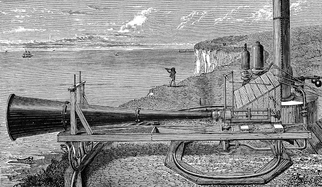 an illustrated giant 1875 land foghorn