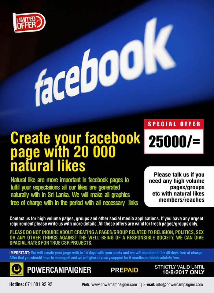 powercampaigner | Create your facebook page with 20 000 natural likes.