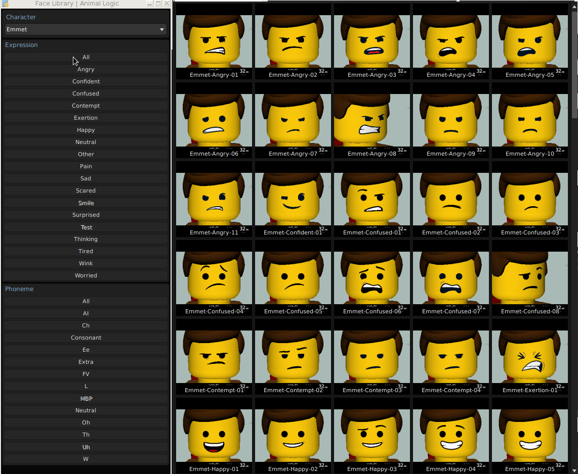 LEGO Faces Expressions