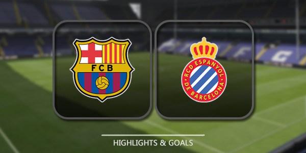 نتيجة مباراة برشلونة وإسبانيول اليوم 18-12-2016 في الدوري الأسباني