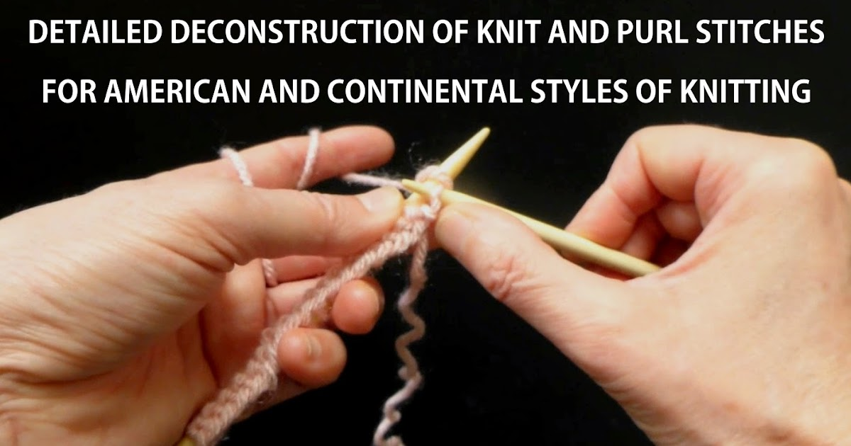 Knitting Styles English : Hand made rukodelky detailed deconstruction of knit and