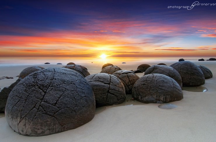 33 Amazing Beaches From Around The World - Moeraki Boulders, Otago, South Island, New Zealand
