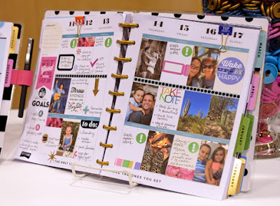 Unindo o planner com fotos do dia-a-dia - http://www.simonsaysstampblog.com/blog/live-at-cha-were-talking-planning/comment-page-2/