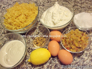 Budinca de paste ingrediente reteta