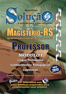 Apostila Seduc-RS para Professor da  (MAGISTÉRIO)