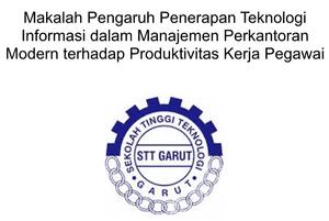 Contoh Makalah Pengaruh PTI (Penerapan Teknologi Informasi) dalam Manajemen Perkantoran Modern Terhadap Produktivitas Kerja Pegawai
