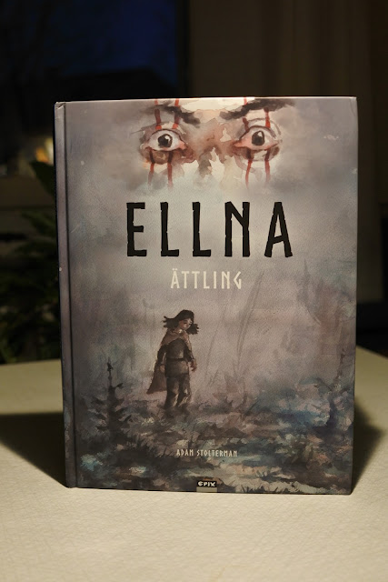 Ellna graphic novel adam stolterman comic watercolor fantasy horror