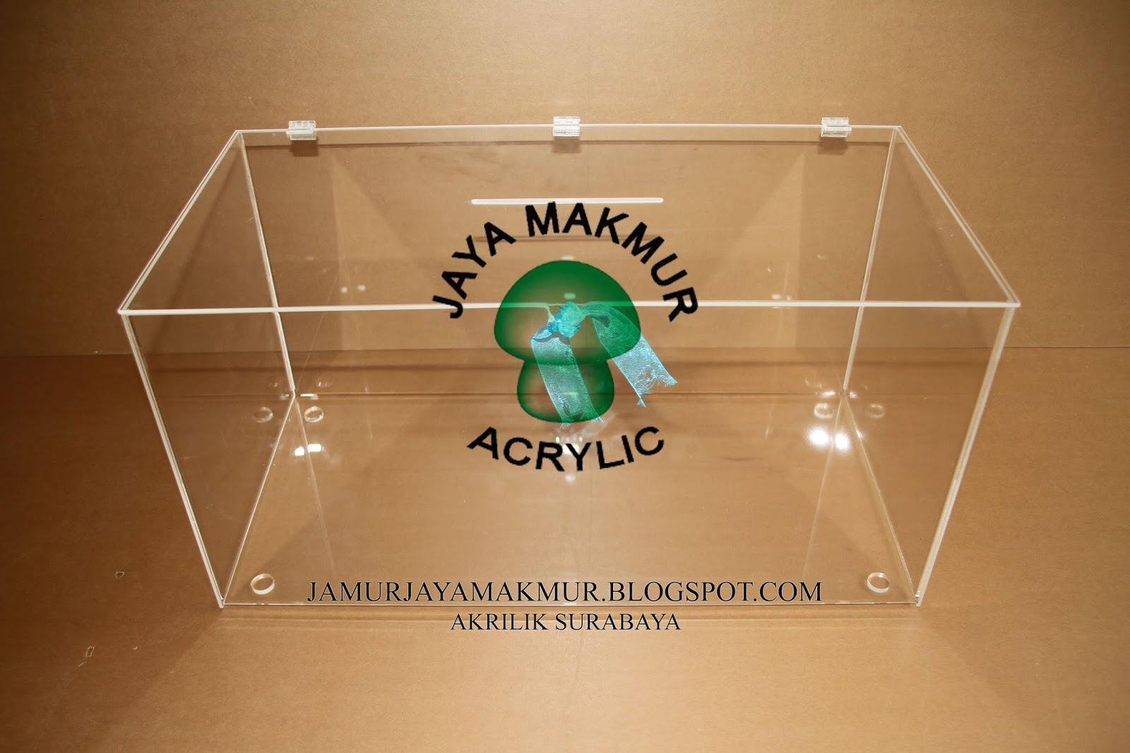 ACRYLIC (jaya makmur) AKRILIK : BOX acrylic, kotak saran ...