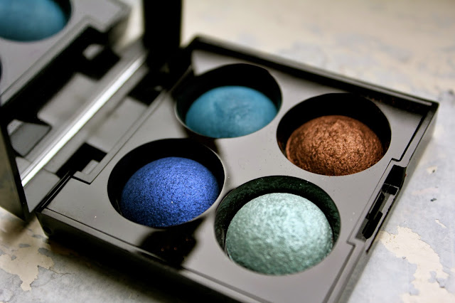 Laura Mercier Baked Eye Colour Quad in St Tropez, review, swatch