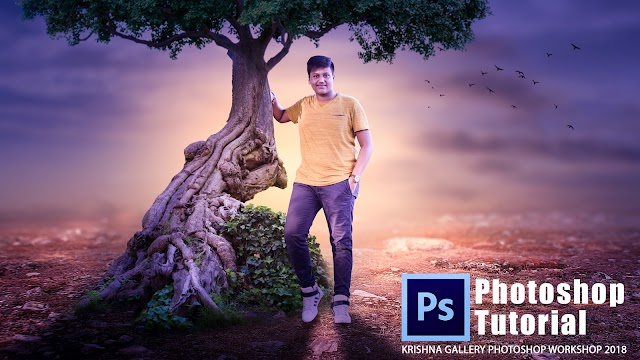 Awesome Tree Photoshop Manipualtion || 2018 1st Photoshop Workshop Tutrial