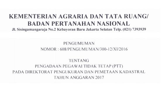 loker badan pertanahan nasional