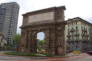 The Porta Romana in Milan stands on the site of one of the original Roman gates into the city