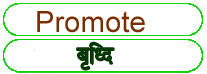 Promote meaning in HINDI