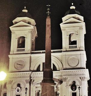 Iglesia de Trinità dei Monti en Spagna en Roma