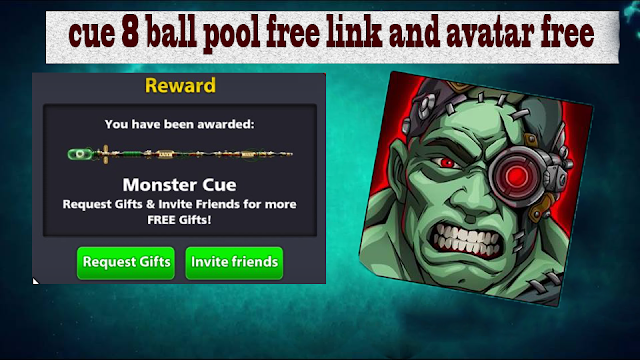 cue 8 ball pool free link and avatar free