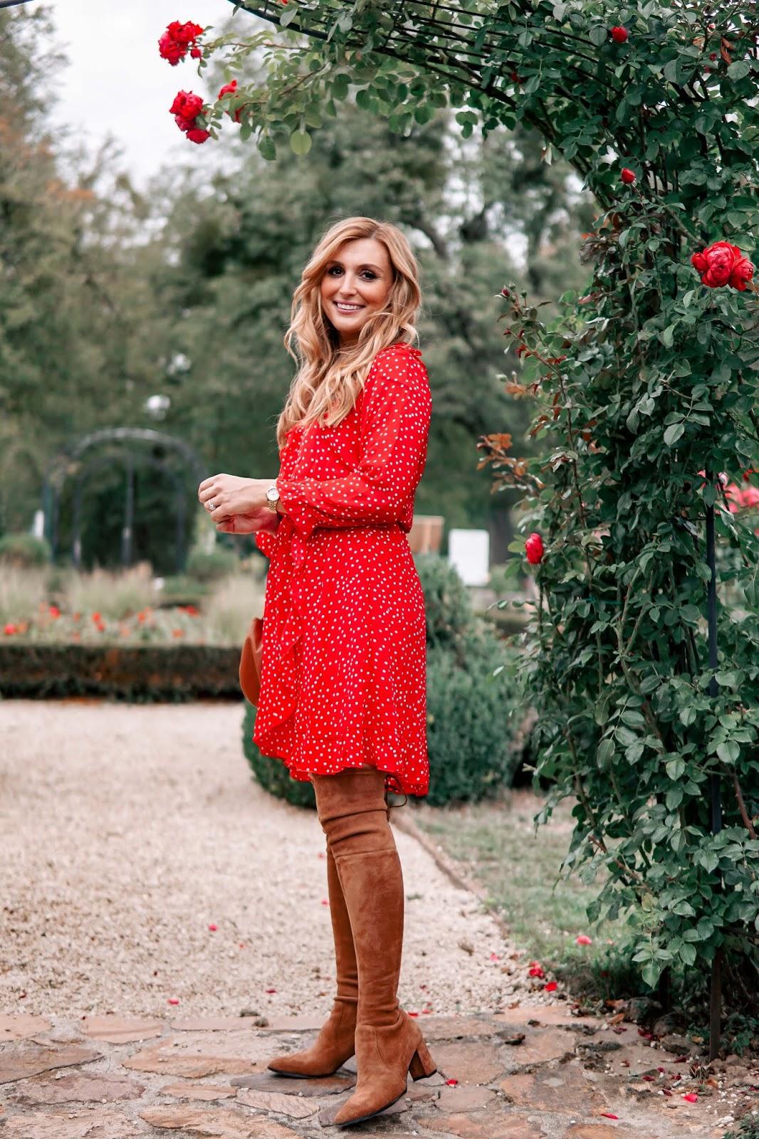 Wie Tragt Man Ein Rotes Kleid Im Herbst Fashionstylebyjohanna Fashionblog Beautyblog Outdoorblog Aus Frankfurt