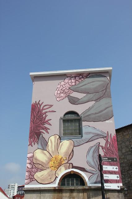 flower paintings street art porto