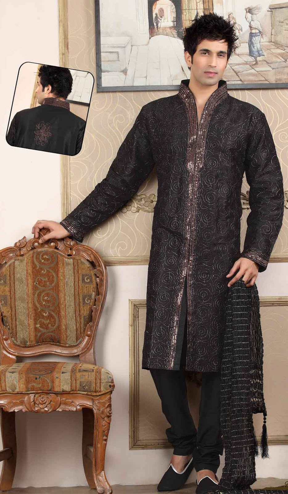 New Fashion Styles Stylish Black Kurta Design In Pakistan