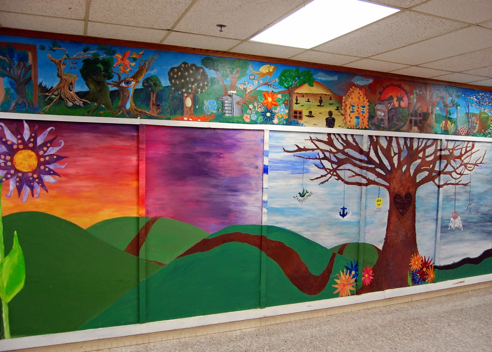 student art - full wall mural - view from the left