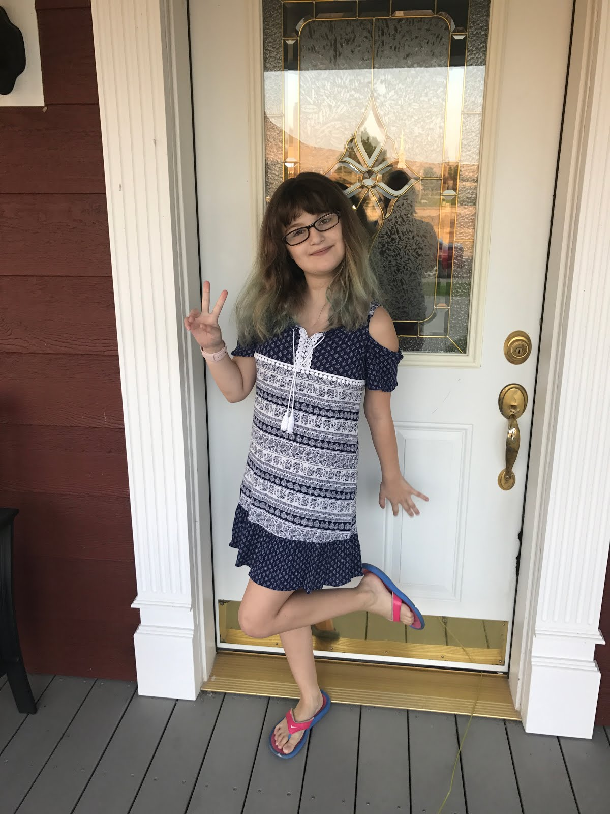 Carla's 1st day of 4th Grade, 2017