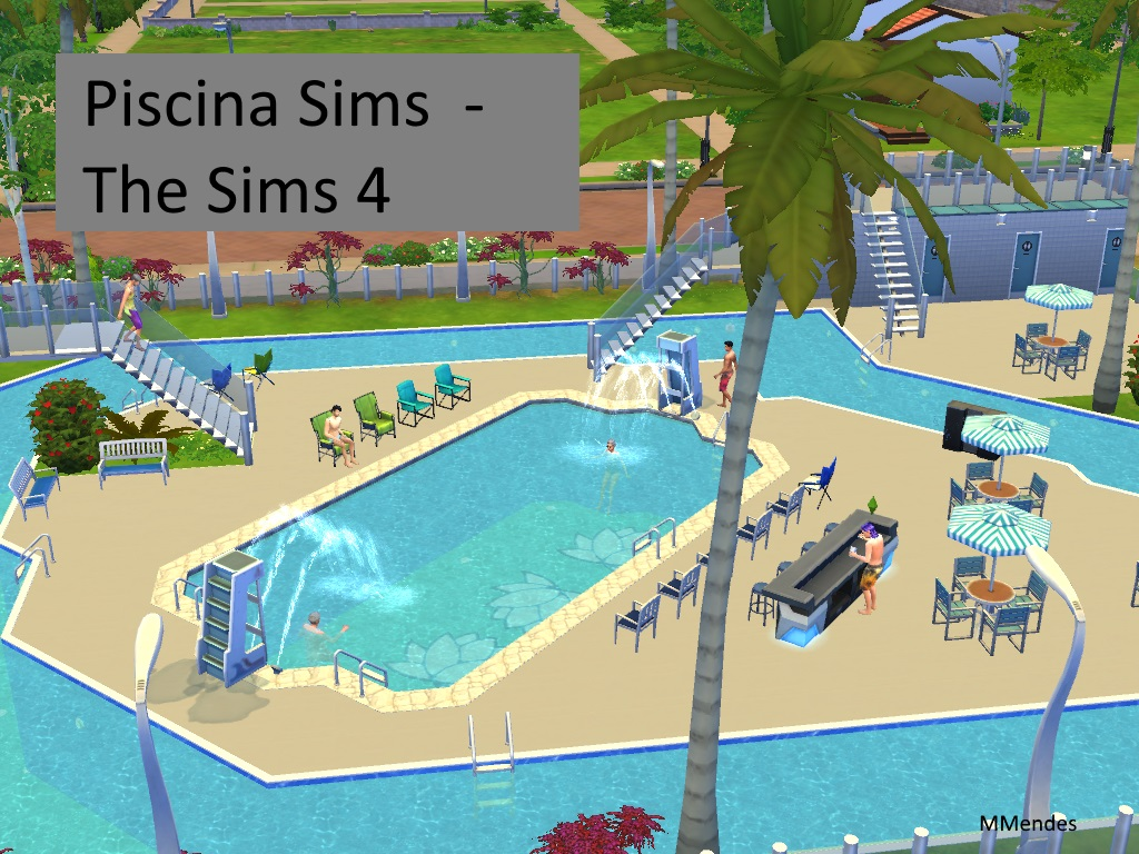 Artes cria es de maria mendes lote the sims 4 download for Piscina sims 4