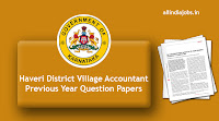 Haveri District Village Accountant Previous Year Question Papers