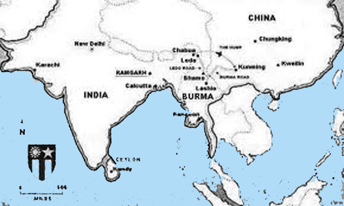 Image Result For China Burma India Theater Map