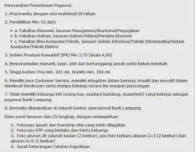 Lowongan Kerja Lampung Februari 2013 Terbaru Lowongan Kerja Terbaru Informasi Lowongan Kerja Terbaru Lowongankerjabanklampung Lowongan Kerja 30 Mei 2014